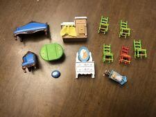 Vintage 1980 Mattel THE LITTLES Metal Die-Cast Dollhouse Doll Furniture Lot