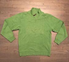 Orvis Men's Heathered Sweater Green Pullover 1/4 Zip Softest Sweatshirt M Medium