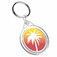 1 x Awesome Cute Red Orange Palm Tree - Keyring IR02 Mum Dad Birthday Gift #9013