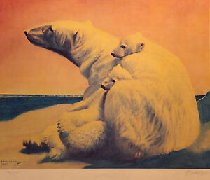 Fred Machetanz, Quality Time, S/N LE Lithograph, Hand Signed by Artist, Mint