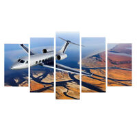 Indoor Decor 5 Panels Picture Paintings on Canvas Home Wall Art  Plane