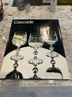 BOHEMIA CRYSTAL Set Of 6 Cascade Claudia Etched Crystal Wine Glasses Goblets-NIB