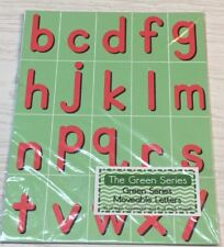 The Green Series - Movable Alphabet / Green Background - Montessori Set