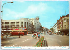 Leicester Humberstone Gate, Street View Traffic Shops Lea's Vintage Postcard Z2