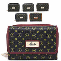 Ladies Faux Leather MD Print Envolope Style Purse Clutch Bag Handbag M095-230