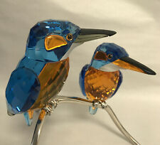 "Swarovski Crystal ""KINGFISHERS  BLUE TURQUOISE"" 945090 Mint In Box w/Certificate"