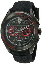 Scuderia Ferrari Men's Quartz Stainless Steel and Silicone Black Watch 830344