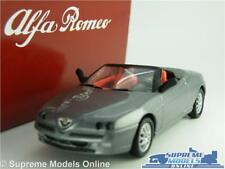 ALFA ROMEO SPIDER MODEL CAR 1:43 SCALE SOLIDO + TIN DEALER SPECIAL GREY 20374 K8