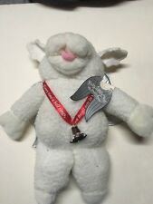 Christmas Shari Lewis Lamb Chop Plush Hand Puppet Angel Wings Bell NWT 1993 16""