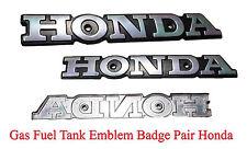 Gas Fuel Tank Emblem Badge Pair Honda CB125 S CB175 CB200 CL200 CL175 CL125 S110