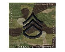 US Army MultiCam Rank E-6 Staff Sergeant Rank hook backing