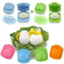 6Pcs Boiled Sushi Rice Kitchen Tools Gadget Mold Bento Maker Sandwich Cutter New