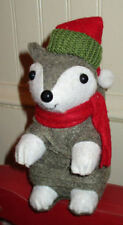 """Adorable 2014 Target Winter Christmas Squirrel with Hat & Scarf 6"""" Mint w/ Tag"""