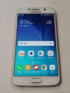 Samsung Galaxy S6, 128GB, White Pearl, Verizon, Glass Cracked : AA149