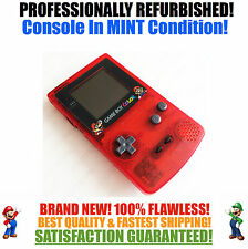 *NEW SCREEN* Nintendo Game Boy Color GBC Red Mario System MINT NEW