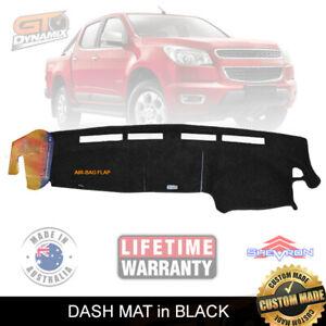 DASH MAT for HOLDEN COLORADO RG DX LX/LT LTZ ZL1 6/2012-7/2016 BLACK DM1278