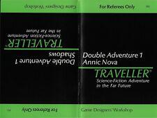 Traveller- Double Adventure 1 Shadows/Annic Nova w/Deck Plans - GDW