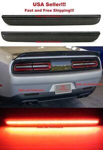 Smoked Lens LED Rear Bumper Reflector Lights for 2015 - 2020 Dodge Challenger