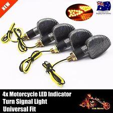 4x Carbon LED Turn Signal Indicators Blinker Abmer Lights For Honda XL185S