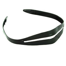"""Scuba Dive Snorkeling Mask Silicone Strap Replacement - Black 5/8"""" Width Thin"""