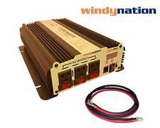 VertaMax 1500 Watt Power Inverter DC to AC Car, RV LED Display + Battery Cables