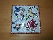 "Sonoma Life+Style KNOLLWOOD Square Embossed Trivet 7 3/8"" Birds"