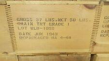 Original Wwii Wooden Tnt Explosive Box
