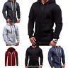 Men's Winter Hoodie Warm Zip Coat Jacket Slim Hooded Sweatshirt Outwear Sweater