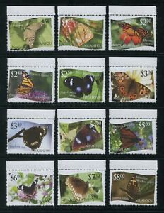 2012 Tonga Niuafo'ou Butterflies Postage Stamps #275-286 Mint Never Hinged Set