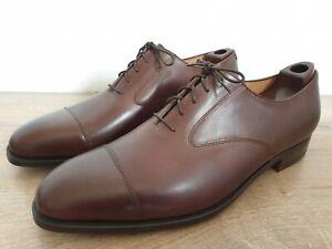 "Poulsen Skone Brown Calf Cap Toe ""LADBROKE"" Oxfords Made in England Size 13 MINT"