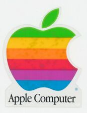 Vtg NOS Apple Computer Rainbow Logo Static Cling Window Decal Sticker