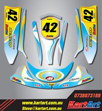 Top kart cadet 2008 - 2011  full custom KART ART sticker kit WHIRLPOOL STYLE