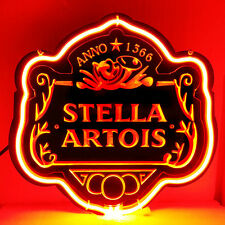 "SB049 Stella Artois Beer Bar Display Neon Light 3d Acrylic Sign 11""X10.75"""