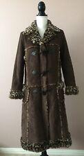 Anna Sui Womens Long Coat NWT Leopard Print Faux Fur Vegan Friendly Brown Sz 2