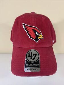 Arizona Cardinals 47 Brand Clean Up-Adjustable Cotton Hat Cap-NFL Licensed