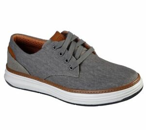 NEW MEN'S SKECHERS MORENO EDERSON TAUPE AIR COOLED MEMORY FOAM SHOES