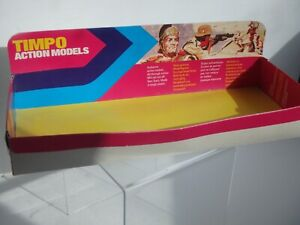 Vintage Timpo Action Models Cardboard Store Display Vivid Colours Roman Indian +