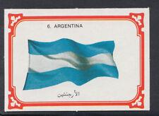 Monty Gum 1980 Flags Cards - Card No 6 - Argentina   (T627)