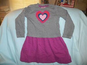 Girls Hanna Andersson dress size 110 or 5/6--GUC--gray bodice, L/S, purple skirt