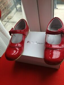 Pretty Originals Girls Red Patent Leather Shoes Size Eur 31 uk 13 mary jane bow