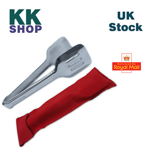 """All Purpose 9.5"""" / 24 cm Stainless Steel Food Tongs for BBQ, Frying, Grilling"""