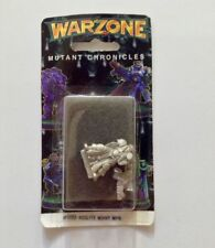 1995 Warzone Mutant Chronicles Miniature Acolyte With Heavy Weapon 9883 Metal