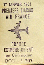 1960 AIR FRANCE 707 PARIS TEHERAN    Airmail Aviation premier vol AC28