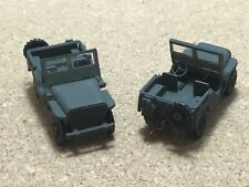 WILLYS JEEP 4X4  assemble and painted 1/72 scale new ( 2 JEEPS ) by MPC