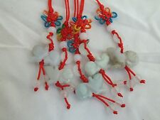 Lot of 5 Chinese Zodiac Butterfly Knot Jade Cell Phone Charm Strap Red RAT