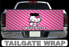 T292 HELLO KITTY Tailgate Wrap Decal Sticker Vinyl Graphic Bed Cover