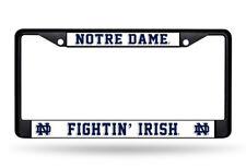Notre Dame Irish Metal License Plate Frame - Car Auto Tag Holder - NEW Black
