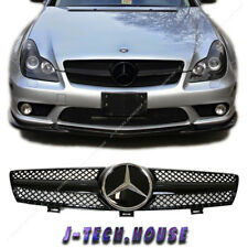 Fit W219 04-08 BENZ CLS350 CLS63AMG 4DR Gloss Black DTR Cover Front Grille