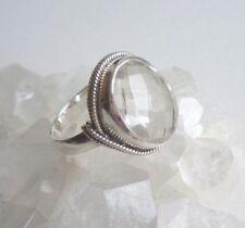 Ring mit Kristall - Bergkristall, 925er Silber, Gr. 17,2