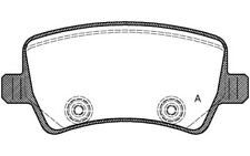 4x OPEN PARTS Pastillas de Freno Traseras Para FORD S-MAX VOLVO XC60 BPA1236.00